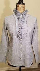 J. Crew Blue and White Stripped Size XS Shirt